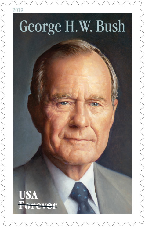U S Postal Service Reveals New Forever Stamp Design Honoring Former President George H W Bush Allongeorgia
