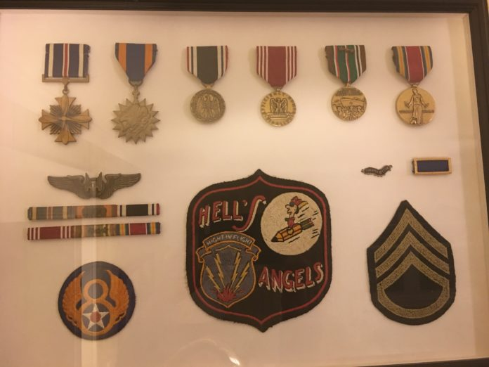 Mr. Lanier's patched and medals