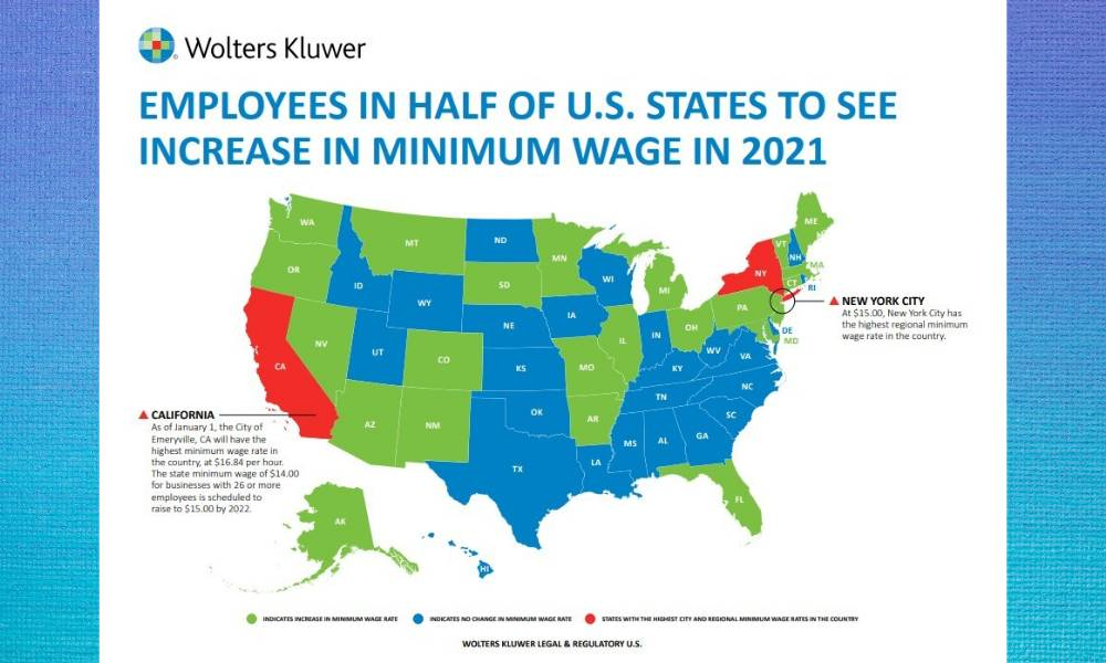 MAP MONDAY: States That Will See A Minimum Wage Increase ...