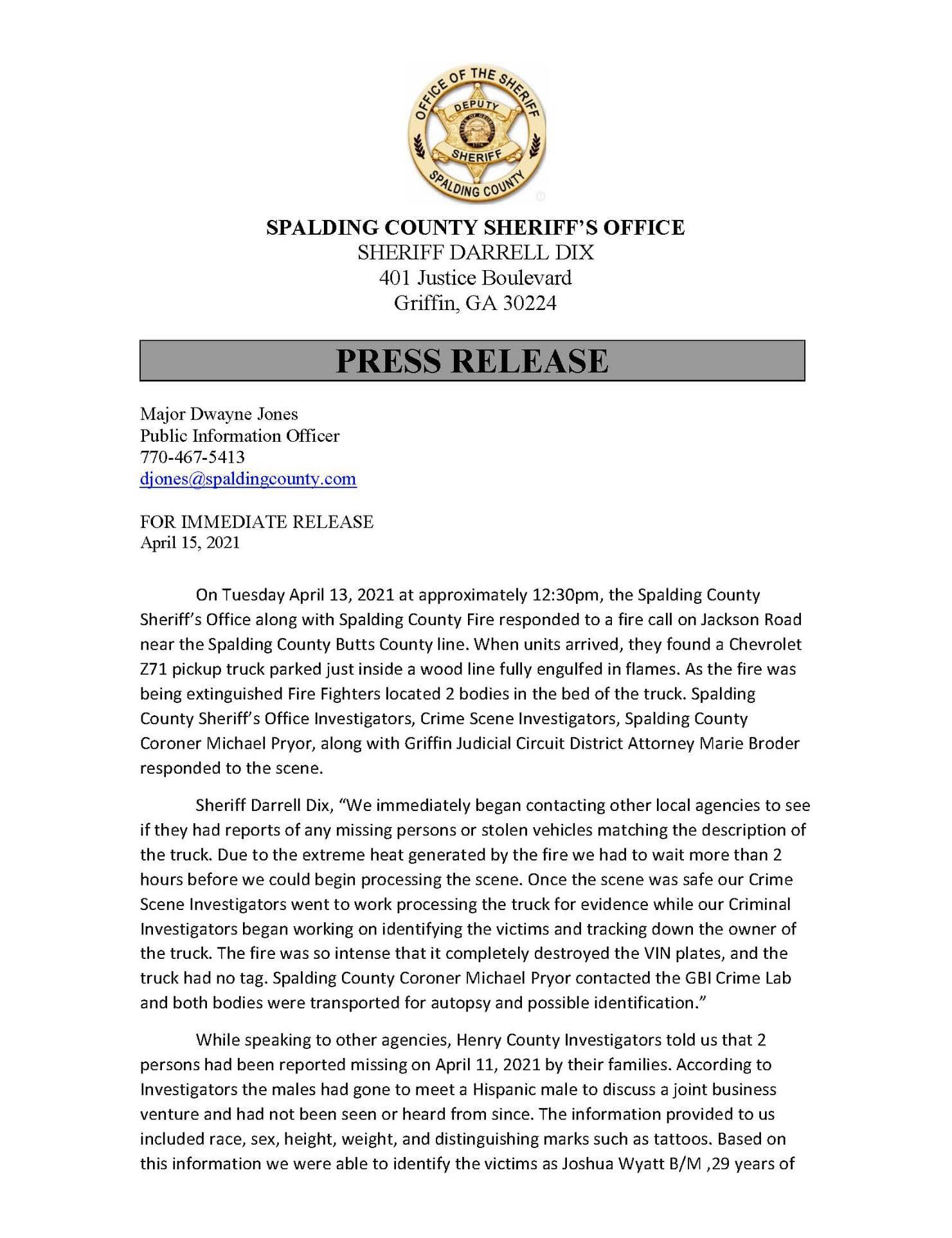 spalding county press release murder arrest 04142021 – 1